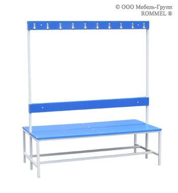 Скамья для спортивных раздевалок двухсторонняя ЛДСП