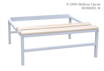 Подставка со скамьёй под шкаф на 600 (верх дерево)