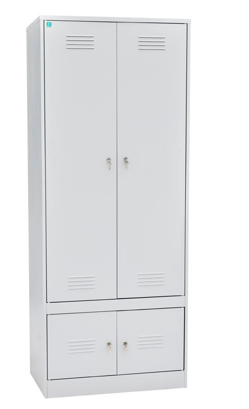Шкаф для одежды двухстворчатый с отделениями под обувь