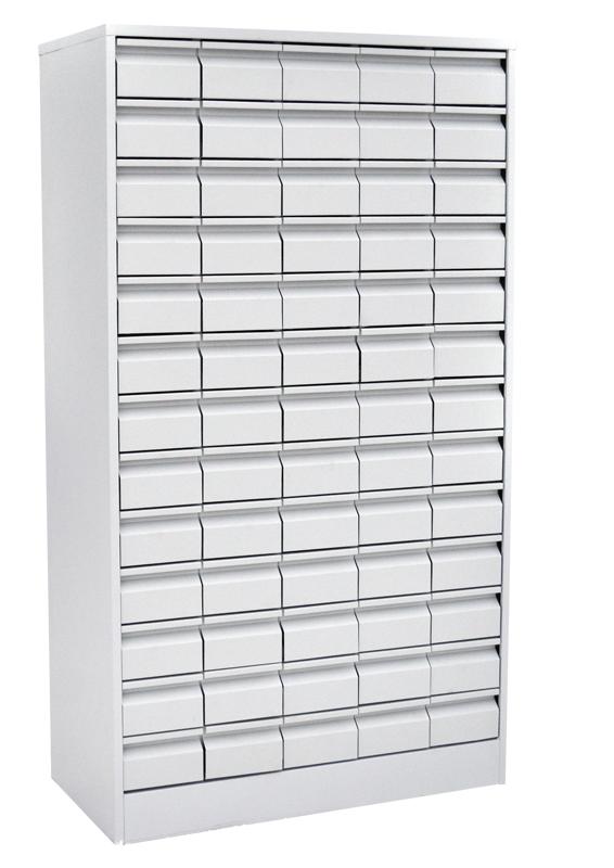 Шкаф картотечный для библиотечных карточек (65 ящиков)