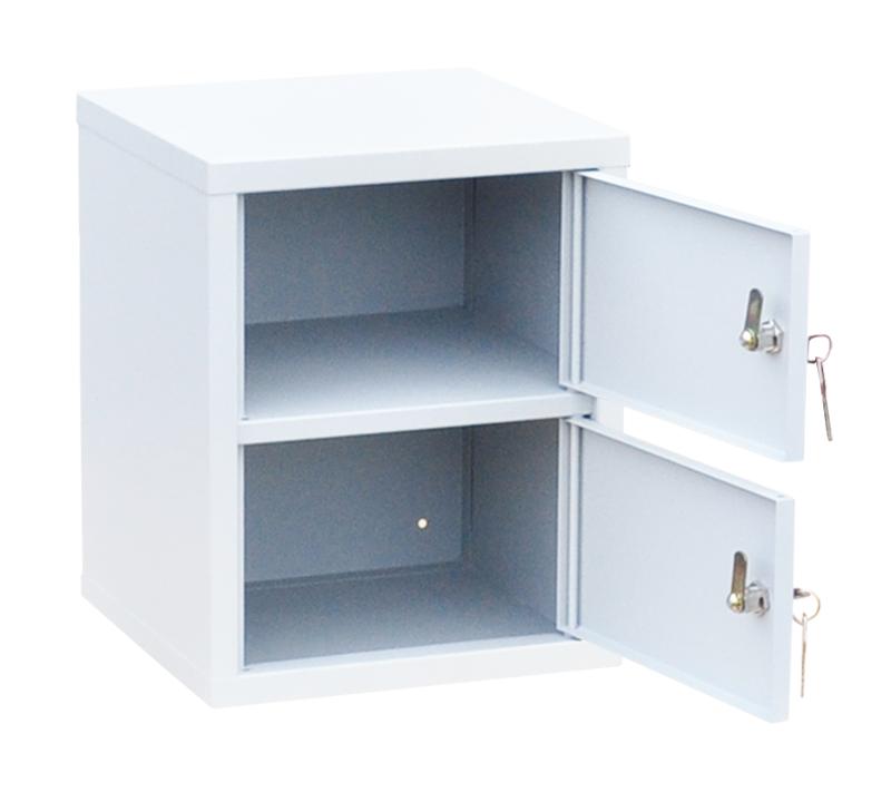 Индивидуальный шкаф кассира на 2 отделения вертикальный (навесной) (ИШК-2в)