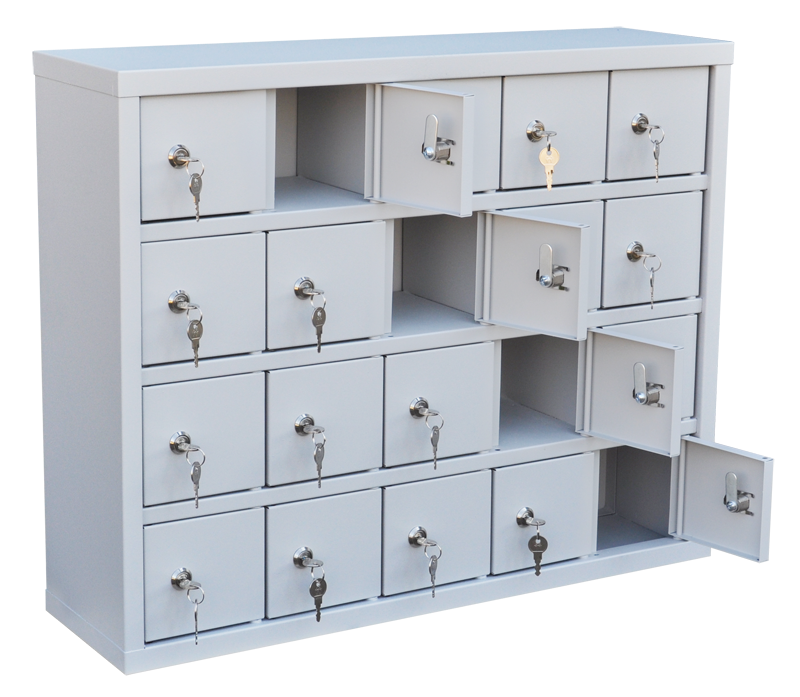 Шкаф для хранения мобильных телефонов на 20 ячеек